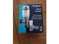 Drayton TRV4 Thermostatic Radiator Valve with Lockshield