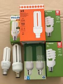 Various low energy bulbs most brand new in box no longer needed