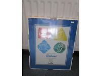 5 good quality unused, still in wrapping, clip frames for wall hanging, prints or pictures.