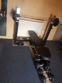 Powertec Olympic Weights Bench heavy duty for home gym