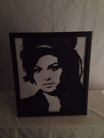 Hand Painted Amy Winehouse