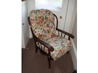 Very comfy set of two livingroom/conservatory cottage style vintage armchairs