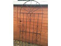 Metal tall garden gates