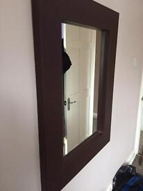 Faux leather mirror good condition