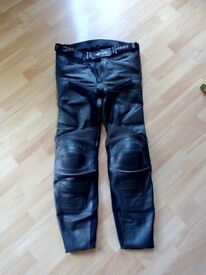 Leather motorbike trousers, size waist 32, very good condition, £30.00