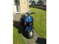 Vespa T5 Classic. Full engine rebuild with SIP road 2 exhaust, tubeless rims