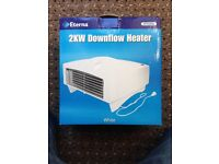 2KW Downflow Heater, as used in bathroom