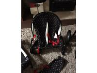 Double cot and bouncer dolls set