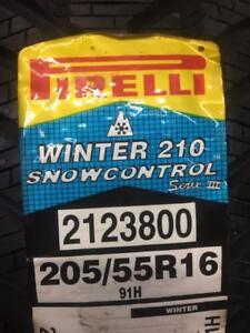 4 Brand New Pirelli Winter 210 Snowcontrol 205/55R16 *** WallToWallTires.com ***