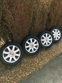 VW Golf MK5/TOURAN Alloy wheels x4 **IMMACULATE**