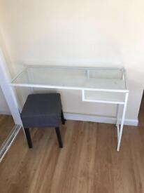 IKEA makeup desk and stool