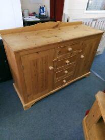 Pine Sideboard 2 doors 4 drawers