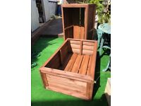 Large Low sized Garden Trough flower or vegetable Planters on feet.
