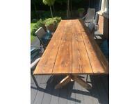 Oak Garden Table - 1m x 3m