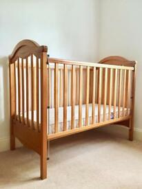 Mamas & Papas Cot, Mattress and sheets