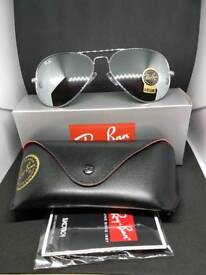 Ray-ban aviator sunglasses chrome