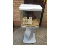80 Litre aquarium and matching stand everything for tropical fish