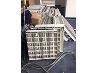 Job lot: 4x Tube / Quad Light Fitting for suspended ceilings 600x600mm