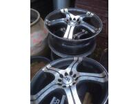 "17"" alloy wheels £80"