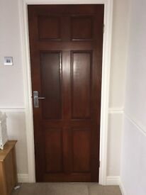 Three panelled doors in excellent condition