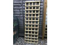 Four trellis panels each 2ft by 6ft high quality