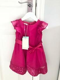 Girls Pink Monsoon Dress (New with Tags)