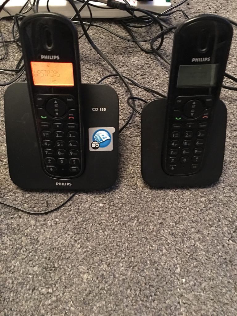 Phillips Twin Cordless Phones