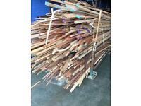 Stillage rack of Hardwood saw fallen waste