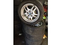 Bmw 3 series alloy wheels /tyres £110