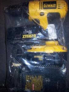 Dewalt 18V Cordless Drill, 2 Batteries, and Charger. We sell used Power Tools. (#3250)