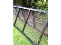 Large wooden mesh pannels for animal incloser