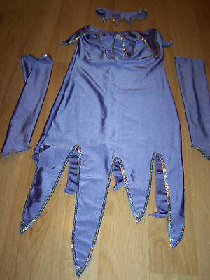 Teen One Size 3-5 Twilight Fairy 4 Piece Dance Costume Purple Sea Witch EUC