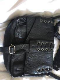 Real leather hanbag
