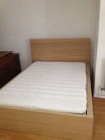 +++++DOUBLE IKEA MALM BED WITH BRAND NEW MATTRESS++++