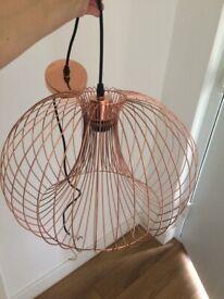 Copper colour light lamp pendant