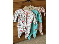 3 Matching Next Baby Sleep Suits