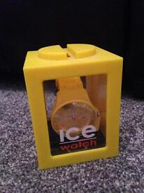 Yellow silicon ice design Forever Wrist watch