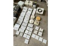 Electric power sockets light lamp switches Joblot consumer units