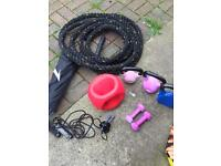Gym equipment rope weights exercise bootcamp