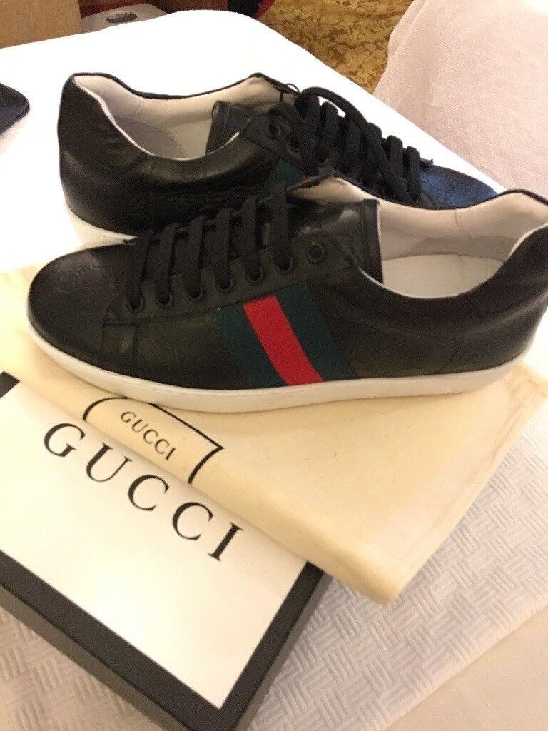 6398867ec Gucci Ace Sneaker Black Trainer Gucci Not Louis Vuitton Christian Louboutin  Dsquared Kenzo