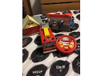 Fireman Sam remote control fire engine with fire station and lighthouse