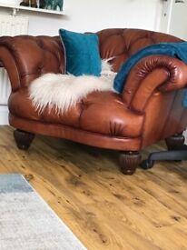 Stunning Tetrad Oskar chesterfield armchair