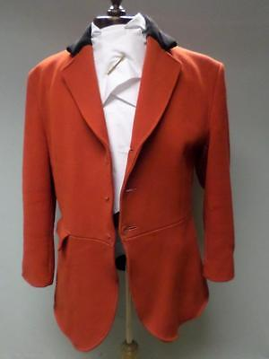 50ce0f9705dc5 *VINTAGE GENTS CALDENE RED HUNTING COAT/JACKET W/ VELVET COLLAR 42