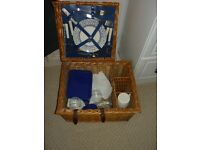 Vintage, Unused Wicker Picnic Hamper by Optima.