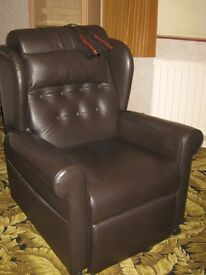 Willowbrook Brown Leather Electric Recliner Chair