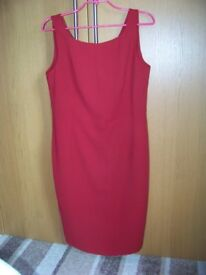 Ladies Sleeveles Jacques Vert Red Shift Dress