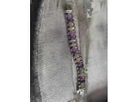 Gorgeous CZ and multi colour stone bracelet