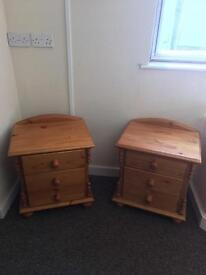 Pair of pine bedside chests * free furniture delivery *