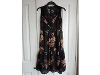Topshop floral lace tea dress size 8