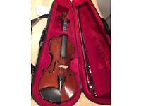 3/4 Stringers Violin including case, bow and shoulder rest